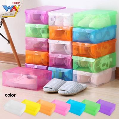 กล่องใส่รองเท้าพลาสติก  คละสี