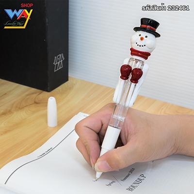 ปากกาลูกลื่นรูปมนุษย์หิมะชกมวย สีขาว