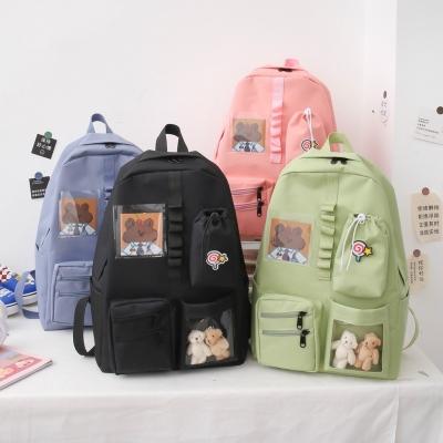กระเป๋าเป้เซต กระเป๋าเป้ 4 ใบ น้องหมี มี 5 สี