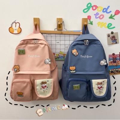 กระเป๋าเป๋ 2ช่องลายการ์ตูน มี 5 สี