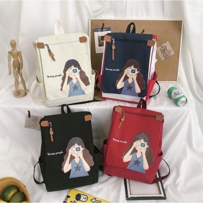 กระเป๋าเป้ลาย  A girl มาใหม่มี 3 สี