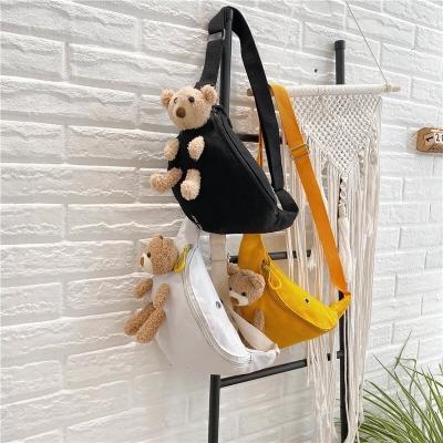 กระเป๋าน้องหมีติดกระเป๋า แบบคาอกแฟชั่น มี 3 สี