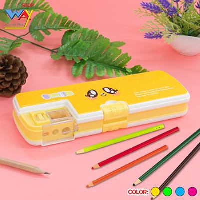 กล่องดินสอพร้อมกบเหลาในตัว คละสี