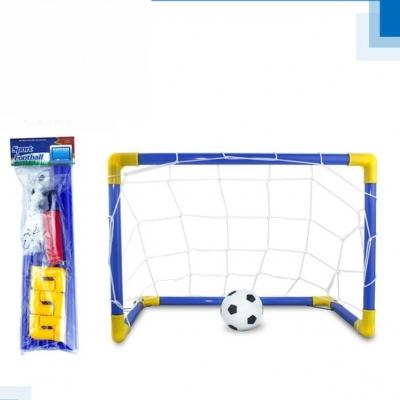 ประตูโกลล์ฟุตบอลพลาสติกแบบใหญ่ พร้อม ฟุตบอลเป่าลม (ประกอบเอง) ในเซ็ท