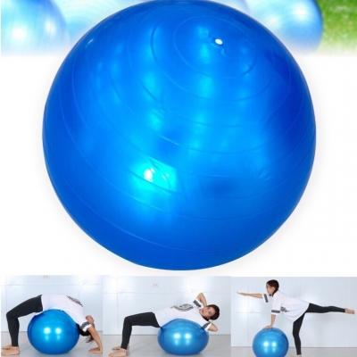 ลูกบอลออกกำลังกายสีน้ำเงิน พร้อมที่สูบลม