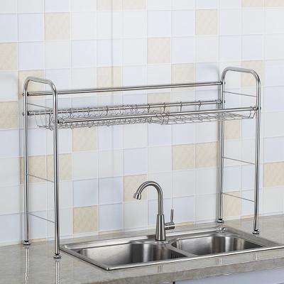 ชั้นวางของสแตนเลสหน้าอ่างล้างจาน