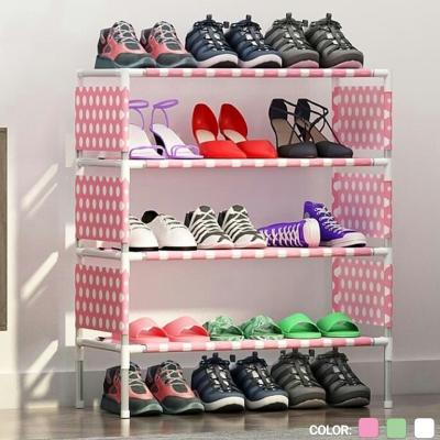new ชั้นวางรองเท้า 4 ชั้น ประกอบง่าย คละลาย คละสี
