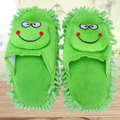 รองเท้าทำความสะอาดพื้นรูปกบ สีเขียว