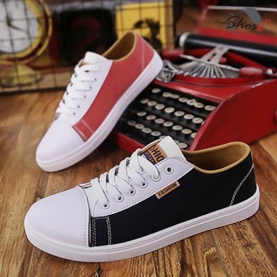 รองเท้าผ้าใบชาย  ทรงอินดี้ข้างละสี  1 คู่ 2 ข้าง 2 สี คละ