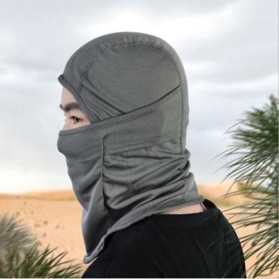 ผ้าคลุมหัวกันรังสียูวี UV เปิดคางได้  มี 6 สี