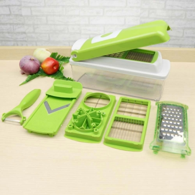 ชุดสไลด์ผักและผลไม้อเนกประสงค์สีขาว-เขียว