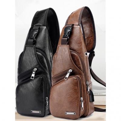 กระเป๋าคาดอก กระเป๋าแฟชั่น กระเป๋าเท่ๆ ผู้ชาย สีดำ