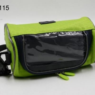 กระเป๋าติดหน้าแฮนด์จักรยาน สีเขียว