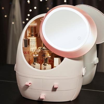 กล่องเก็บเครื่องสำอาง กรอบไฟ LED