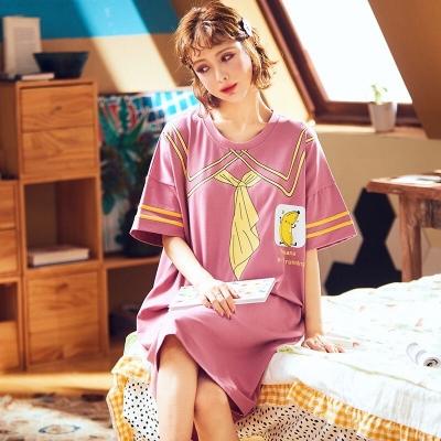 ชุดนอนเดรสสีชมพู มี 2 size