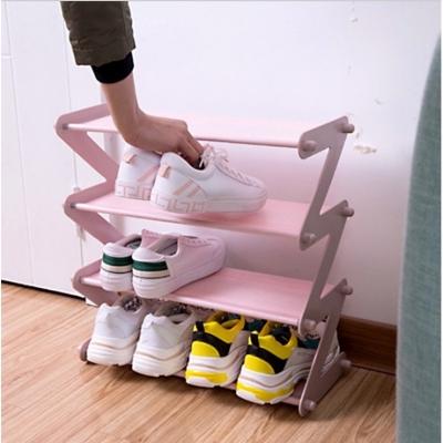 ชั้นวางรองเท้า อเนกประสงค์ 4 ชั้น พับเก็บได้ มี 4 สี