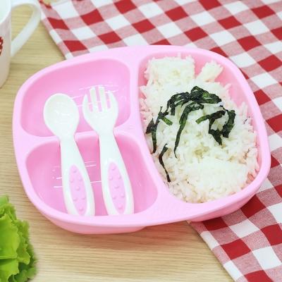 ชุดชามอาหารเด็ก สีชมพู ปิกนิค