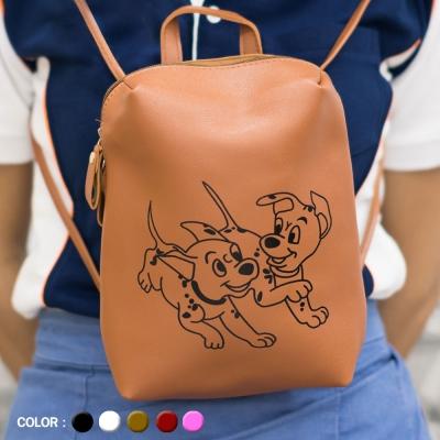 กระเป๋าสะพายหลัง สกรีนลาย คละสี