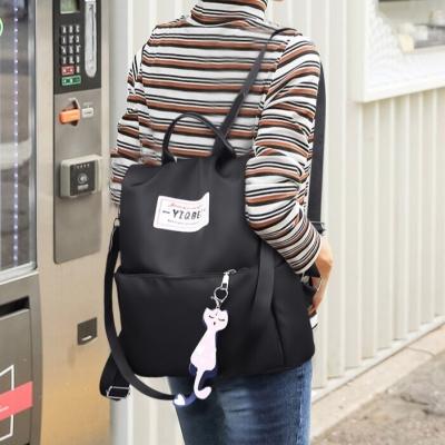 กระเป๋าเป้ YIOBEI กันน้ำ มีสายห้อยแมว มี  3 สีให้เลือก