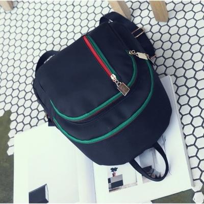 กระเป๋าเป้แฟชั่น กระเป๋าเป้ผู้หญิง สีดำเขียว
