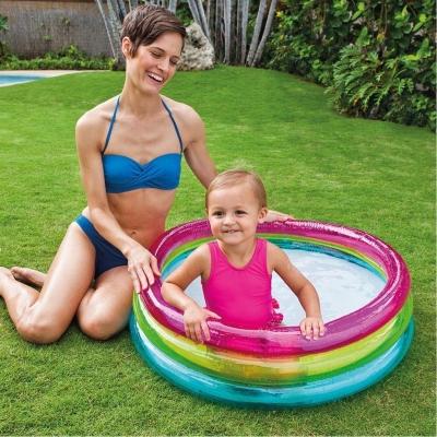 INTEX สระน้ำ สระน้ำเป่าลม สระเด็กเล็ก Rainbow Baby Pool รุ่น 57104