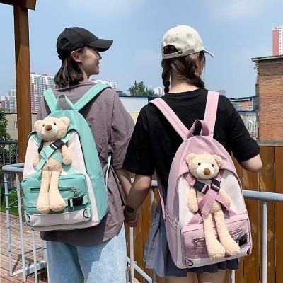 กระเป๋าเป้สะพายหลังน้องหมีแบบสะพาย มี 4 สี