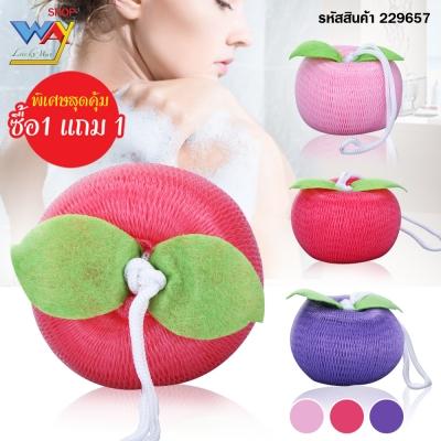 ใยขัดตัวรูปแอปเปิ้ล 1 ชิ้น คละสี ซื้อ 1 แถม 1