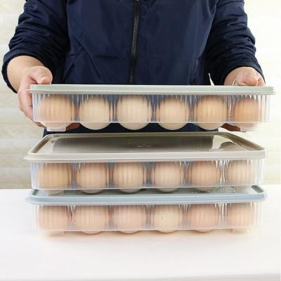กล่องเก็บไข่ 24 ช่องสำหรับตู้เย็น  31 x 23 x5.5 cm คละสี