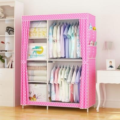 ตู้เสื้อผ้า 2 บล็อค ประกอบเอง มี 2 สี