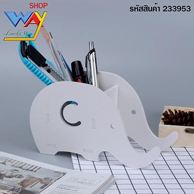 กล่องไม้ใส่ของอเนกประสงค์ช้างน้อย  สีขาว