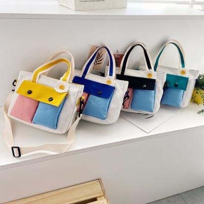 กระเป๋า ทูโทน+ดอกไม้ มี 4 สี