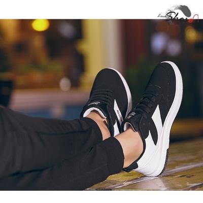 รองเท้าผ้าใบผู้ชาย แฟชั่น  ขาว-ดำ size40