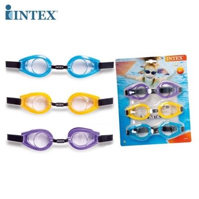 INTEX แว่นตาดำน้ำ Kids Play Goggles ( 1แพ็คมี 3 ชิ้น )