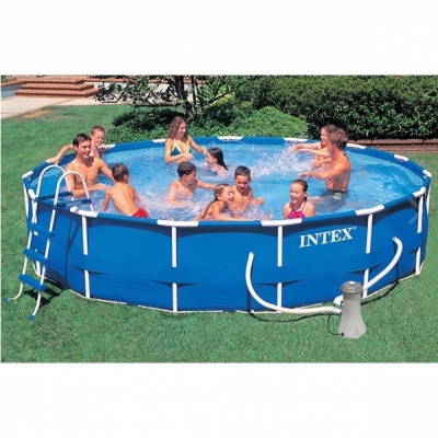 INTEX สระว่ายน้ำ 457 x 84 CM. Metal Frame Pool Set
