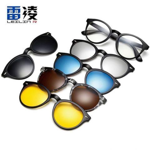 แว่นตาแฟชั่น คลิปออน แว่นตา2ชั้น มี 5 สี